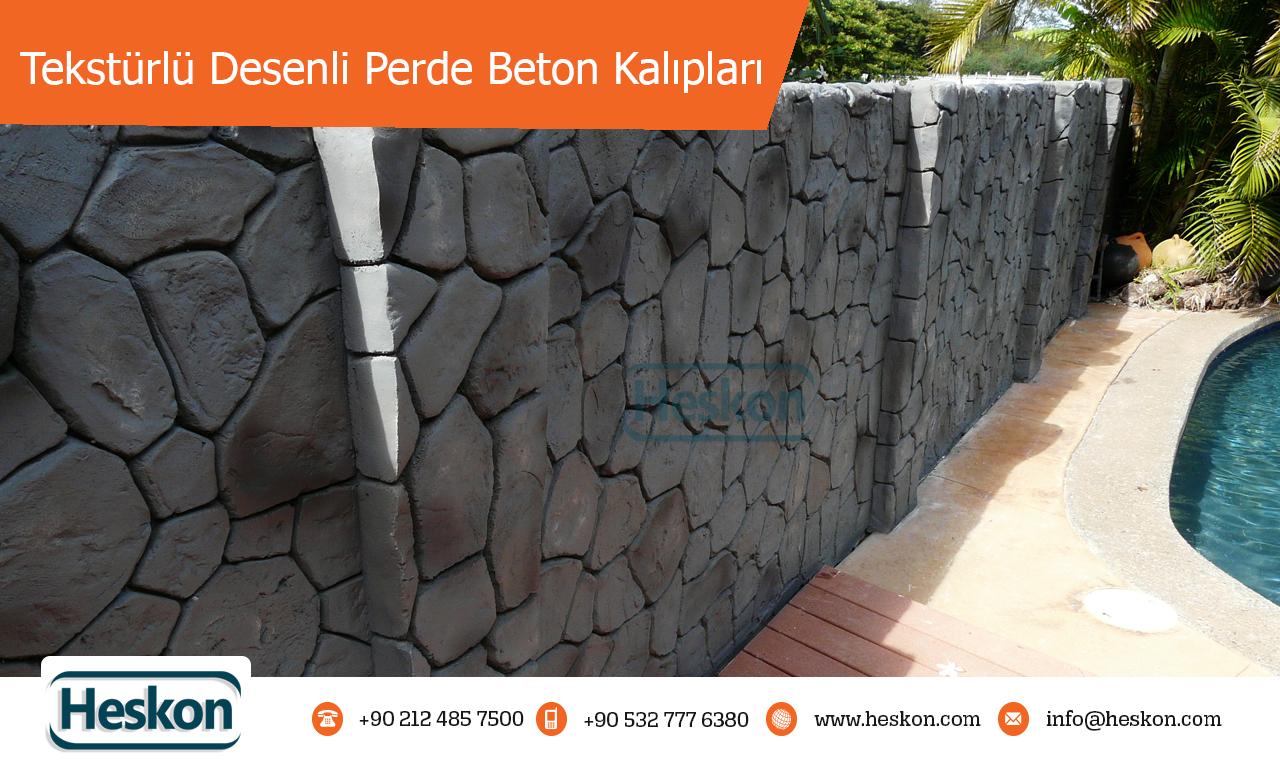 teksturlu perde beton kaliplar